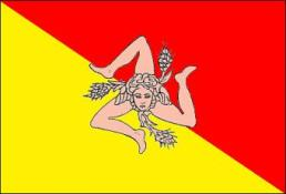 Flagge Sizilien
