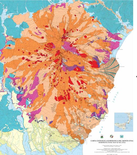 Sizilien Karte ätna.Die Wichtigsten Ausbrüche Des ätna